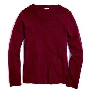 💛 J Crew Mercantile Teddie Sweater Maroon Wool